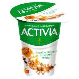 Jogurt ze zbożami orzechami i miodem 165 g