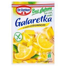 Galaretka bez glutenu o smaku cytrynowym