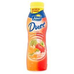 Duet Napój jogurtowy o smaku melon-truskawka