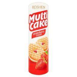 Multi Cake Kruche ciastka nadziewane kremem i musem o smaku truskawkowym
