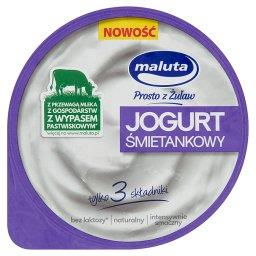 Jogurt śmietankowy naturalny bez laktozy 220 g