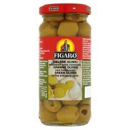 Zielone oliwki nadziewane pastą czosnkową