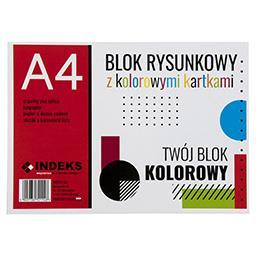 Blok rysunkowy A4, 16 kartek, kolorowy