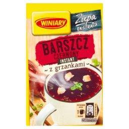 Zupa instant barszcz czerwony z grzankami