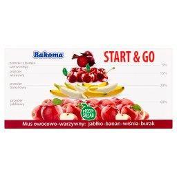 Start & Go Mus owocowo-warzywny jabłko-banan-wiśnia-burak 200 g