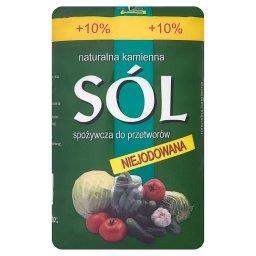 Naturalna kamienna sól spożywcza do przetworów niejodowana
