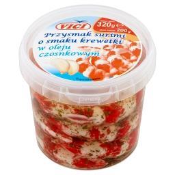 Przysmak surimi o smaku krewetki w oleju czosnkowym