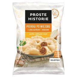 Pierogi po wiejsku z pieczarkami i mięsem  (16 sztuk...