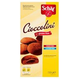 Cioccolini Bezglutenowe herbatniki z nadzieniem kakaowym