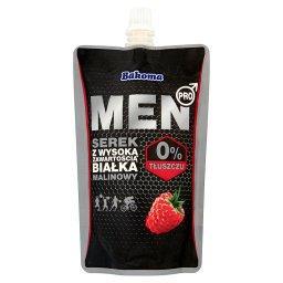Men Pro Serek z wysoką zawartością białka malinowy
