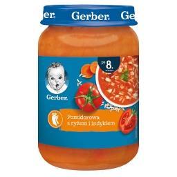 Pomidorowa z ryżem i indykiem dla niemowląt po 8. mi...