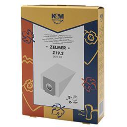 Worki do odkurzaczy Z19.2 Zelmer XS 5 sztuk + 2 filt...