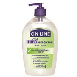 Mydło hipoalergiczne w płynie z dozownikiem do rąk i twarzy dla skóry wrażliwej i suchej 500 ml