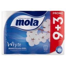 White Papier toaletowy bawełniana biel 12 rolek
