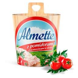 Puszysty serek twarogowy z pomidorami dojrzewającymi...