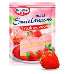 Masa śmietanowa truskawkowa