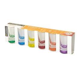 Kieliszki X mix kolorów 6 sztuk