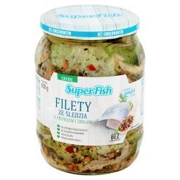 Filety ze śledzia z pieprzem i ziołami
