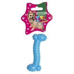 Zabawka dla psa kość lana gumowa z kolcami 10,5 cm