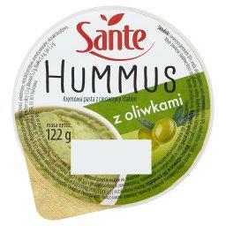 Hummus z oliwkami Kremowa pasta z ciecierzycy i tahini