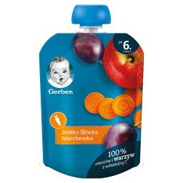 Deserek jabłko śliwka marchewka dla niemowląt po 6. ...