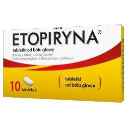 Etopiryna (300mg + 50mg + 100mg) x 10 tabl.