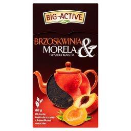 Brzoskwinia & Morela Liściasta herbata czarna z kawa...