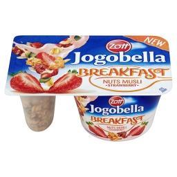 Jogobella Breakfast Jogurt truskawkowy z chrupiącym musli orzechowym
