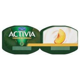 Activia Jogurt naturalny i brzoskwinie 240 g (2 sztuki)
