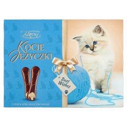 Kocie Języczki Czekoladki mleczno-białe
