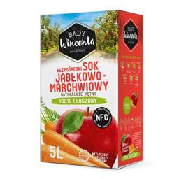 Sok jabłkowo-marchwiowy, naturalnie mętny, tłoczony ...