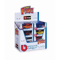 Autko Burago Street Fire różne rodzaje 1:43