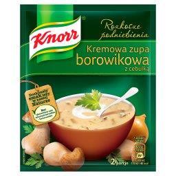 Rozkosze podniebienia Kremowa zupa borowikowa z cebu...