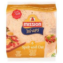 Wraps Tortille z mąki pszennej orkiszowo-owsiane  (6 sztuk)