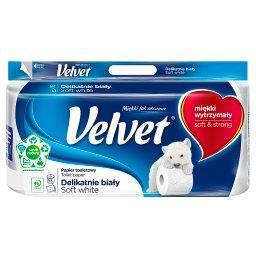Delikatnie Biały Papier toaletowy 8 rolek