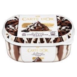 Lody o smaku ciasteczkowo-śmietankowym i czekoladowe...