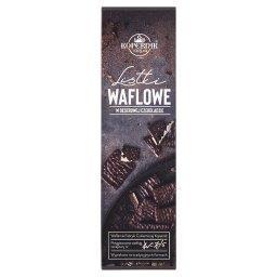 Listki waflowe w deserowej czekoladzie