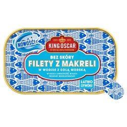 Filety z makreli w wodzie z solą morską