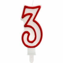 """Świeczka urodzinowa """"3"""""""