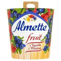 Fruit z jagodą i maliną Puszysty serek twarogowy
