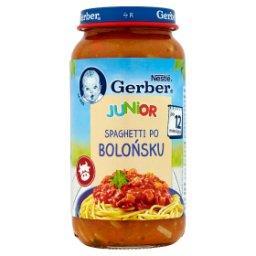 Junior Spaghetti po bolońsku po 12 miesiącu
