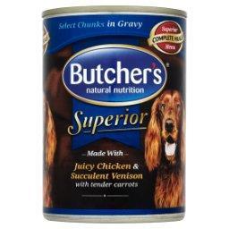 Superior Karma dla dorosłych psów kawałki w sosie z kurczakiem jeleniem i marchewką