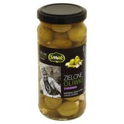 Zielone oliwki z czosnkiem