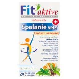 Fit aktive Suplement diety herbatka ziołowa spalanie max  (20 x 2 g)
