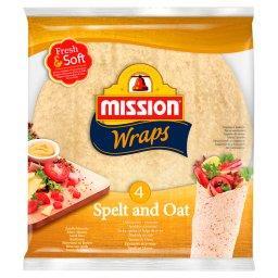 Wraps Tortille z mąki pszennej orkiszowo-owsiane  (4...