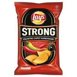 Strong Pikantne chipsy karbowane o smaku ostre chilli