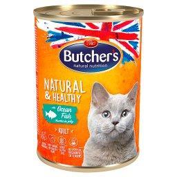 Natural&Healthy Karma dla dorosłych kotów kawałki w galaretce z rybą morską