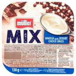 Mix Jogurt o smaku waniliowym z kulkami zbożowymi w czekoladzie mlecznej i białej