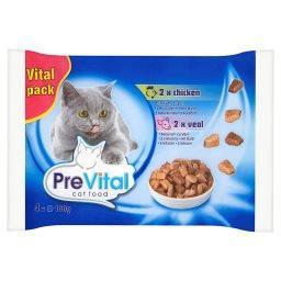 Vital Pack Karma dla dorosłych kotów z kurczakiem lub cielęciną w sosie