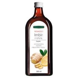 Sok bezpośrednio wyciskany z kłącza imbiru i cytryny